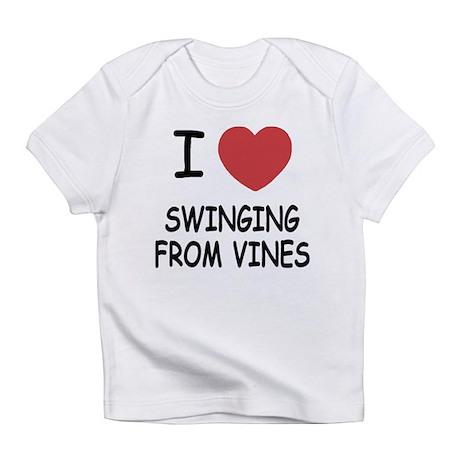 I heart swinging from vines Infant T-Shirt
