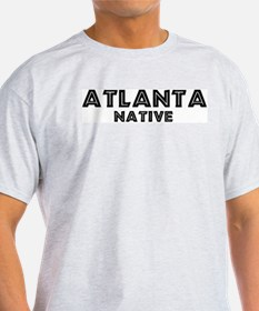 Atlanta Native Ash Grey T-Shirt
