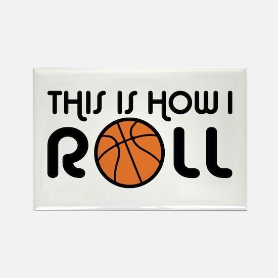 Basketball Rectangle Magnet