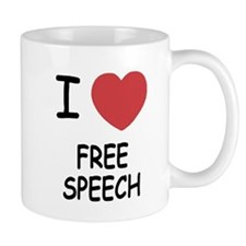I heart free speech Mug