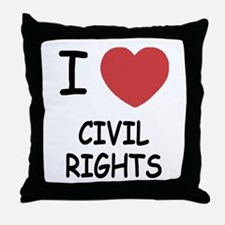I heart civil rights Throw Pillow