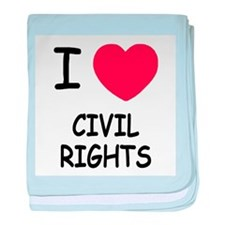 I heart civil rights baby blanket