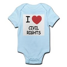 I heart civil rights Infant Bodysuit