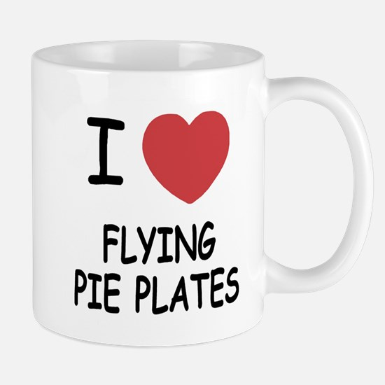 I heart flying pie plates Mug