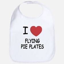 I heart flying pie plates Bib