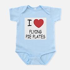 I heart flying pie plates Infant Bodysuit