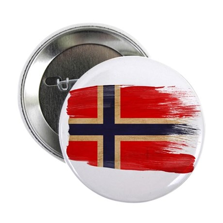 """Norway Flag 2.25"""" Button (100 pack)"""