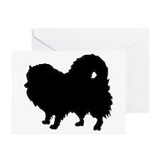 Pomeranian Silhouette Greeting Cards (Pk of 20)