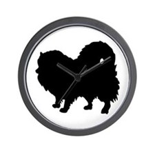 Pomeranian Silhouette Wall Clock