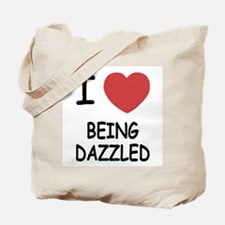 I heart being dazzled Tote Bag