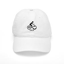 Peace Love Cycle Baseball Cap