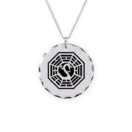 Draco Station Necklace Circle Charm
