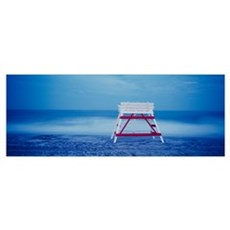 Lifeguard chair on the beach, Cape May, New Jersey Poster
