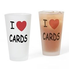 I heart cards Drinking Glass