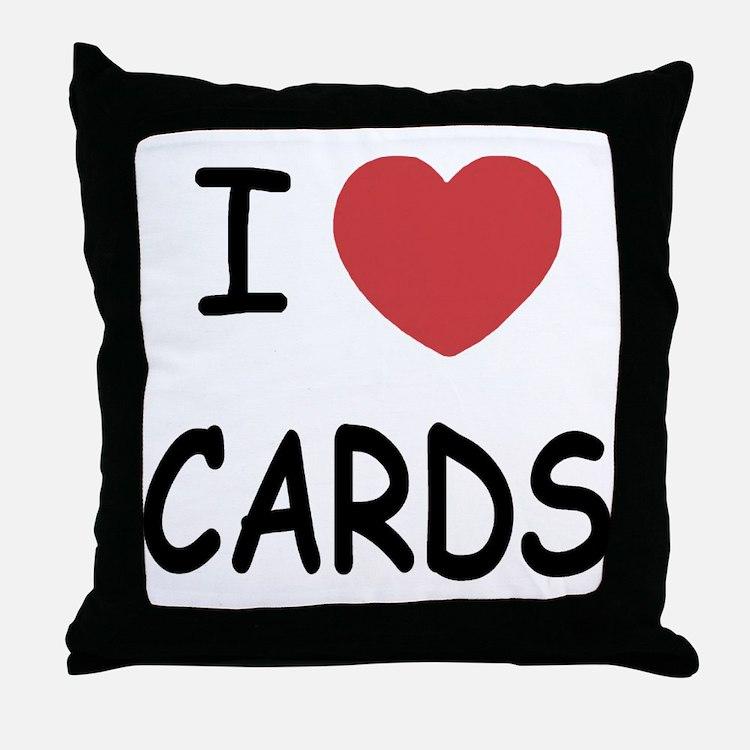 I heart cards Throw Pillow