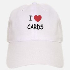 I heart cards Baseball Baseball Cap