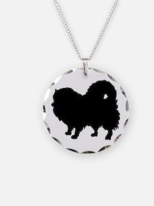 Pomeranian Silhouette Necklace