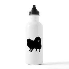 Pomeranian Silhouette Water Bottle