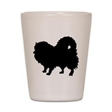 Pomeranian Silhouette Shot Glass