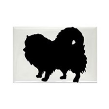 Pomeranian Silhouette Rectangle Magnet