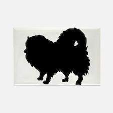 Pomeranian Silhouette Rectangle Magnet