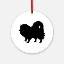 Pomeranian Silhouette Ornament (Round)