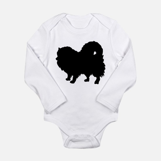 Pomeranian Silhouette Long Sleeve Infant Bodysuit
