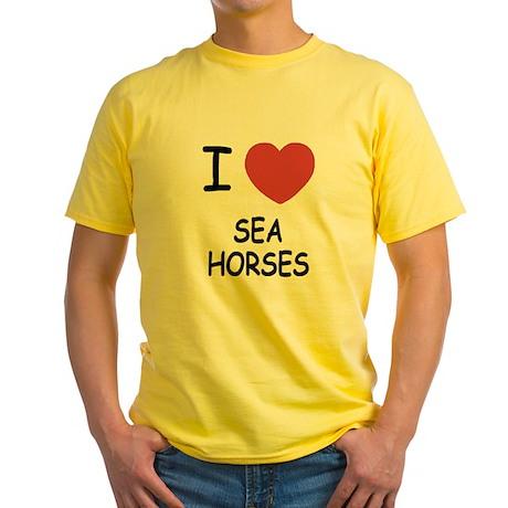 I heart seahorses Yellow T-Shirt