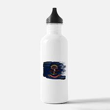 North Dakota Flag Water Bottle