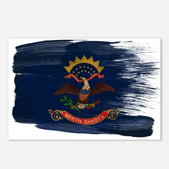 North Dakota Flag Postcards (Package of 8)