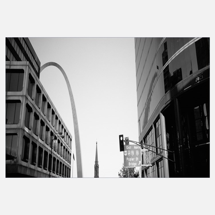 Low angle view of buildings, St. Louis, Missouri