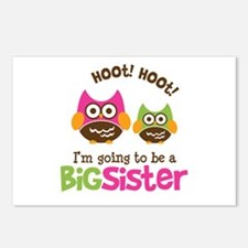 Retro Owl going to be Big Sis Postcards (Package o