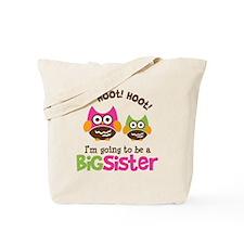 Retro Owl going to be Big Sis Tote Bag