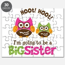 Retro Owl going to be Big Sis Puzzle