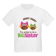 Retro Owl going to be Big Sis T-Shirt