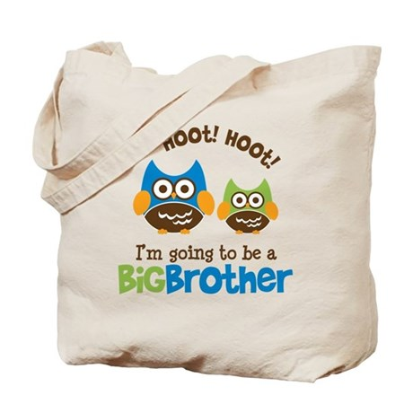 Retro Owl going to be a Big Brother Tote Bag