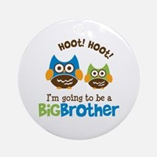 Retro Owl going to be a Big Brother Ornament (Roun
