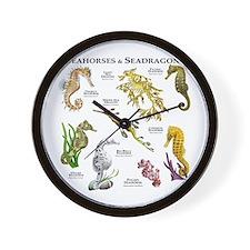 Seahorses & Seadragons Wall Clock