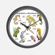Seahorses & Seadragons Wall Clock