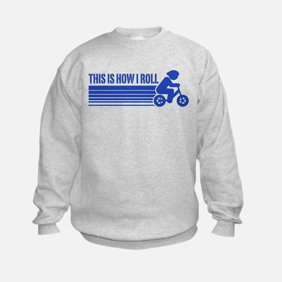 Kids Cycling This Is How I Roll Sweatshirt