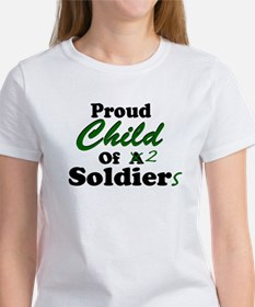 Proud Child of 2 Soldiers Women's T-Shirt