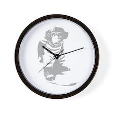 Surf Monkey Wall Clock