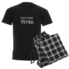Don't Think Write Pajamas