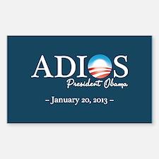 Adios Obama Sticker (Rectangle)