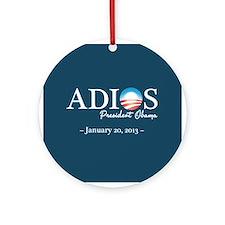 Adios Obama Ornament (Round)
