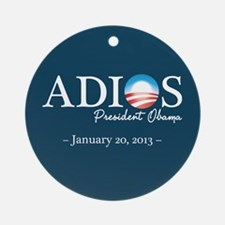Adios Obama Ornament (Round)