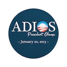"Adios Obama 3.5"" Button"