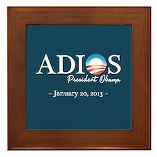Adios Obama Framed Tile