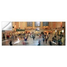 Passengers at a railroad station, Grand Central st Wall Decal
