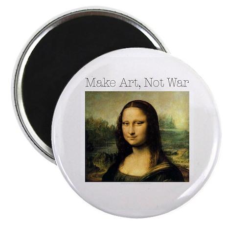 Make Art, Not War Magnet